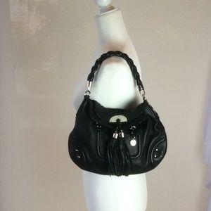 Bebe brand, black leather shoulder bag